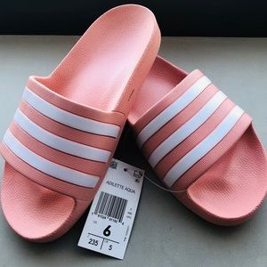 ADIDAS slides blush color. NWT